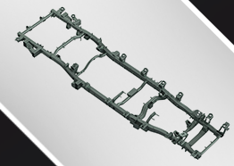 All New C-in-C Chassis for Excellent Bending Strength and Torsional Rigidity